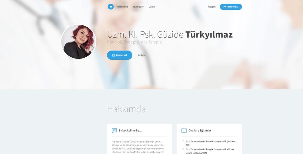 Uzm. Kl. Psk. Güzide Türkyılmaz - Psikoloji, İzmir